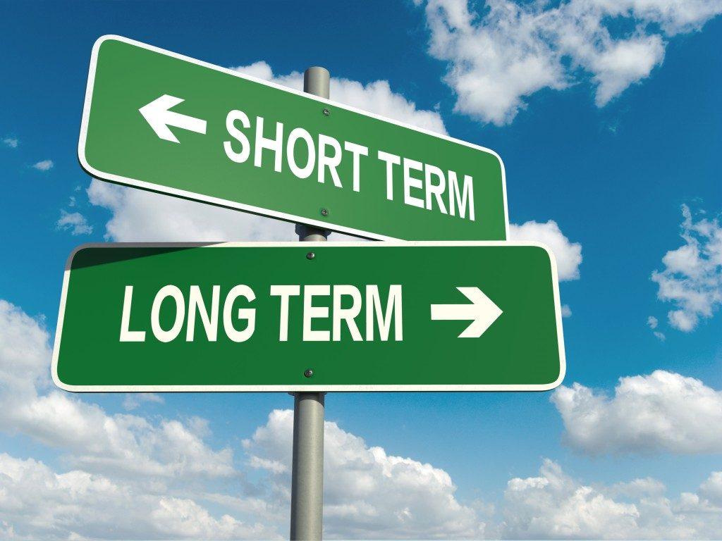 short term long term street sign
