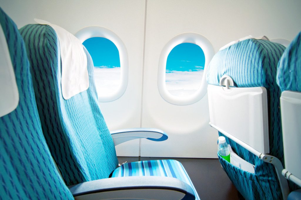 aircraft seats and windows
